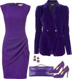 SevenRoses: Michael Kors, Wool Draped Pleat Dress in Grape