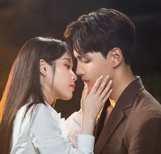 Kpop Couples, Movie Couples, Cute Couples, Kpop Kiss, Drama Funny, Jin Goo, Sulli, Drama Korea, Korean Celebrities