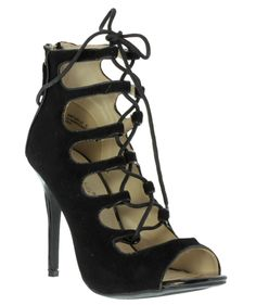 Black Strappy Gladiator Heels