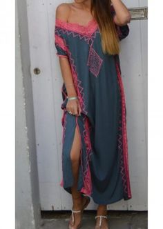 Ethnic Fashion, Womens Fashion, Kaftan, Gypsy, Ideias Fashion, Kimono Top, Cover Up, Boho, Ethnic Style