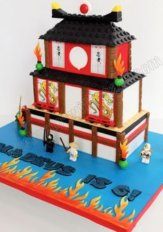 Lego Fun - Lego Ninjago — Wayne Wonder Children's Parties in Gloucestershire Cake Lego, Lego Ninjago Cake, Ninjago Party, Superhero Cake, Ninja Birthday Cake, Ninja Cake, Ninja Birthday Parties, 7th Birthday, Birthday Cakes