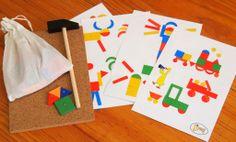 'Tap Tap' Hammer and Nail Set | Montessori Child