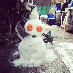 dew1001 / #새로운친구 #눈사람 #안녕 #항상 #오는구나 #겨울마다 / #골목 #괴물 / 2014 01 20 /