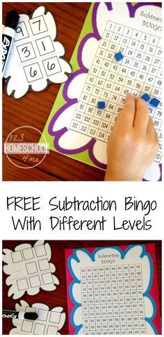 Math Bingo Printable For Kids - Free | Matematyka | Pinterest ...