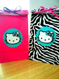 Hello Kitty Zebra Goody Bag Hello Kitty Birthday by LCCreations09