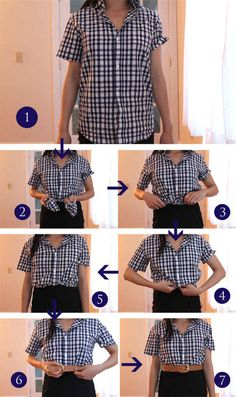 Use this trick for wearing a belt over a tucked-in shirt | 16 Ways To Tuck, Tie, Roll, And Twist Your Clothes Like A Stylist