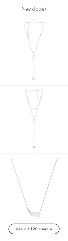 """""""Necklaces"""" by webuildbridgesnotwalls ❤ liked on Polyvore featuring jewelry, necklaces, crystal pendant, crystal stone necklace, crystal necklace, beaded pendant, crystal pendant necklace, lariat necklace, dangle necklace and gold tone chain necklace"""