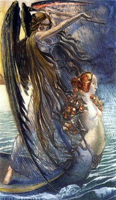 Carlos Schwabe - La Barque de la Mort  1896