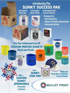 #ANNUAL #PROMOTIONS: SLINKY SUCCES PACK #USA #EEUU #Printing #Advertising #Promotional #Products