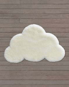 RH baby & child's Sheepskin Cloud Wool Rug: Cut into the shape of a puffy white cloud