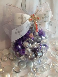 Personalized Christening Cross Ornament by SpecialOrnaments