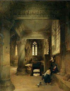 Roberts, David (1796-1864) - 1844 Interior of Rosslyn Chapel (Sotheby's London, 2006)