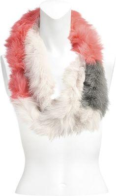 Yves Salomon Tube Scarf in knitted fox fur