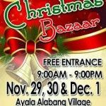 Bazaar and Expo (and Christmas Bazaars) Schedule for Oct, Nov and Dec 2013