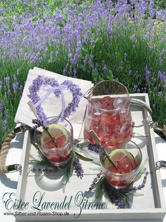 Tea forté Eistee Pyramiden Lavender Citrus - Eistee selber machen