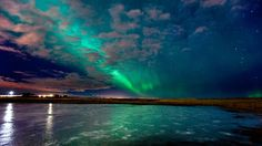 Aurora over Seltjarnes, Iceland