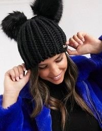 Shop My Accessories London Exclusive black double pom beanie hat at ASOS. Baby Blanket Crochet, Crochet Baby, River Island, Asos, Black Beanie, Boyfriend Crafts, Easter Bunny Decorations, Knit Beanie Hat, Mermaid Blanket
