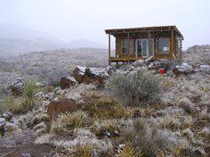 Cabin In The Desert Of Texas