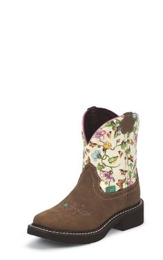 Justin Boots Justin Gypsy 9201JR BLACK WALNUT COWHIDE