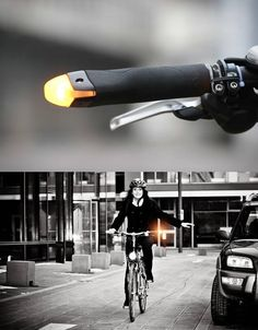 Blinker Grips Brilliant can help to your bike commuting been safer. Rememeber to be safe, be seen. Great idea, can't wait to have them at my local shop 👍👌🔥na Bicycle Types, Bicycle Parts, Bmx, Light Cycle, Urban Bike, Cycling Accessories, Commuter Bike, Fat Bike, Bicycle Lights