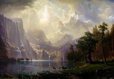 Albert Bierstadt Among the Sierra Nevada