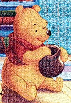 Amazon.com: 1000 Piece Photo Mosaic Jigsaw Puzzle Winnie the Pooh (51x73.5cm): Toys & Games Time Images, Photo Mosaic, Disney Winnie The Pooh, Mosaic Art, 1000 Piece Jigsaw Puzzles, Teddy Bear, Japan, Toys, Animals