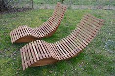 Gartenliege Saunaliege Holzliege Relax Liege Terrasse