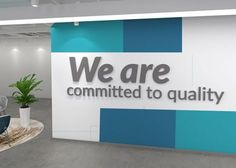 Office Decor Affirmation Quote - We are committed to quality Apply this Office Decor Affirmation Quote 3D Office Wall Art in any flat surface (walls, windows, etc). If you are looking for a piece of art in you office walls Make it Happen 3D Office Wall Art is the perfect choice. The Office Decor