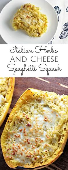Italian Herbs and Cheese Spaghetti Squash is delicious and easy to prepare. It makes the perfect side dish, but could also be served as the main course. Vegetable Recipes, Vegetarian Recipes, Chicken Recipes, Vegetarian Italian, Vegetarian Main Course, Pasta Recipes, Vegan Vegetarian, Low Carb Recipes, Cooking Recipes