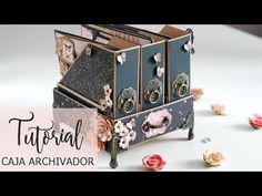 (99) Tutorial caja archivador -1ª parte - YouTube Book Crafts, Paper Crafts, Altered Cigar Boxes, Mini Photo Albums, How To Make Scrapbook, Mini Album Tutorial, Diy Cardboard, Mini Scrapbook Albums, Card Making Inspiration