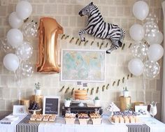Adorable baby shower or baby's birthday decor. #zebras