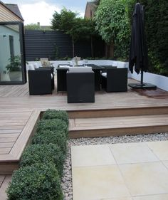 27 Cozy Small Backyard Deck Designs is part of Sloped garden - Take a close look at these beautiful pictures, you will find yourself analyzing which of these small backyard deck designs would suit you best Small Backyard Decks, Backyard Patio, Backyard Landscaping, Pergola Garden, Pergola Kits, Pergola Roof, Pergola Ideas, Small Garden With Decking Ideas, Small Deck Patio