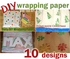Homemade wrapping paper - 10 designs to try with the kids