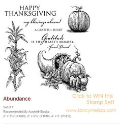 Click here for your chance to WIN this gorgeous #thanksgiving #ctmh acrylic stamp set!