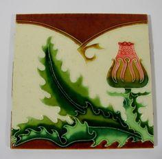 Jugendstil Kachel Fliese Distel Hemiksem Hasselt Belgien Art Nouveau Tile Tegel | Antiquitäten & Kunst, Porzellan & Keramik, Keramik | eBay!