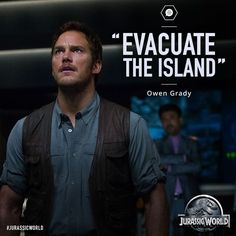 In a new image from Jurassic World, starring Chris Pratt and Bryce Dallas Howard, Pratt urges the staff to evacuate the entire park. Jurassic Park Trilogy, Jurassic Movies, Jurassic World Movie, Jurassic Park 1993, Joe Johnston, World C, World Movies, World Quotes, The Lost World