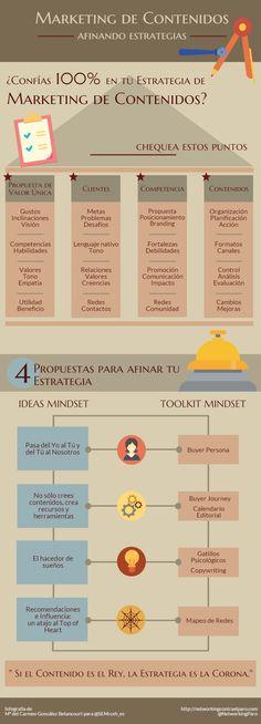 Marketing de Contenidos: Afinando estrategias #infografia
