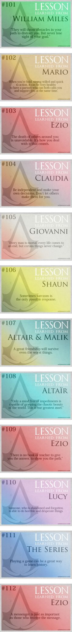 """Assassin's Creed Life Lessons - Part 2"" by double-crossed ❤ liked on Polyvore"