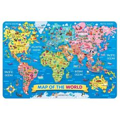 World map floor puzzle 33 pieces by pieces by melissaanddoug ts shure world map jumbo floor puzzle gumiabroncs Gallery