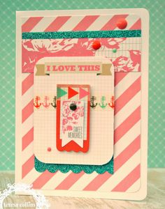 """TERESA COLLINS DESIGN TEAM: Family Stories """"5 minutes"""" Card by @Cheri Piles"""