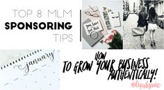 """I share my top 8 MLM Sponsoring Tips for how to grow your business AUTHENTICALLY!  No more """"Join MY Team"""" - shift your focus to benefit others and learn how here :)  If you are part of an MLM, or thinking of joining a multi level marketing company, this is for you!"""