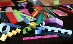creating paper sculptures with kids