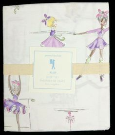 Pottery Barn Kids Ruby Ballerina Twin Sheet Set New 3pc Lavender Ballet Fairy | eBay
