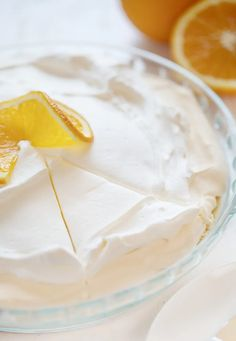 Smooth, creamy, and the perfectly flavor! Creamsicle Pie is just like the popular frozen treat, only better because you can eat it without it melting! #creamsicle #orangecreamsicle #creamsiclepie #recipes #nobake #nobakepie #iambaker Marshmallow Fluff Recipes, Chess Pie, Pie Shop, I Am Baker, Orange Creamsicle, No Bake Pies, Pie Recipes, Recipe Box, Easy Desserts