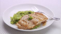 red snapper with fava bean puree by Giada