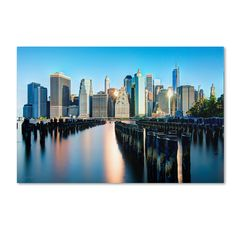 Brooklyn Bridge Park and Financial District - II by David Ayash Photographic Print on Wrapped Canvas