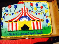 Carnival theme/big top sheet cake design