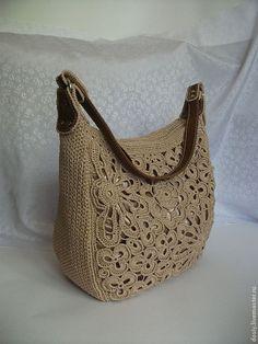 "Handbags handmade.  Fair Masters - handmade.  Buy a knitted bag ""Mirage"" color: baked milk.  Handmade."