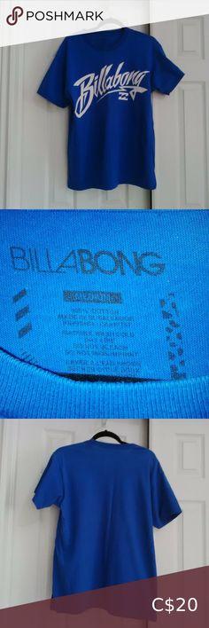 Billabong- Mens T-shirt (M) Men's Billabong T-shirt Short Sleeves Royal Blue with White lettering Cotton Size- Medium Billabong Shirts Tees - Long Sleeve Long Sleeve Tees, Short Sleeves, Plus Fashion, Fashion Tips, Fashion Trends, Billabong, Royal Blue, Tee Shirts, Blue And White