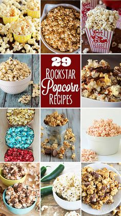 29 Rockstar Popcorn Recipes | realmomkitchen.com #nationalpopcornday #celebratingfood2016
